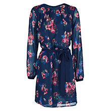 Buy Mango Floral Print Chiffon Dress, Navy Online at johnlewis.com
