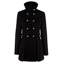Buy Warehouse Melton Reefer Coat, Black Online at johnlewis.com