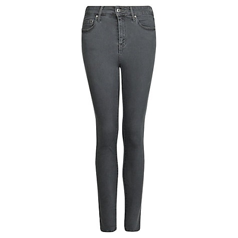 Buy Mango Super High Waisted Jeans, Dark Grey Online at johnlewis.com