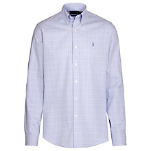 Buy Polo Golf by Ralph Lauren Custom Fit Check Shirt, Blue/White Online at johnlewis.com