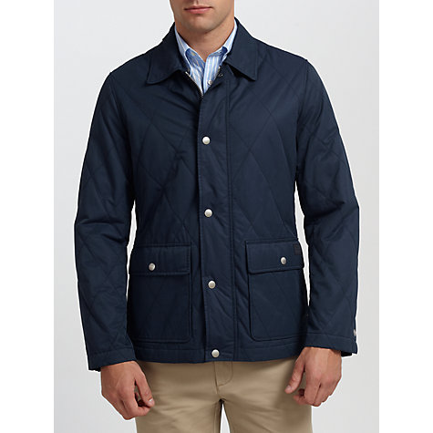 Buy Gant Hill Quilted Jacket, Navy Online at johnlewis.com