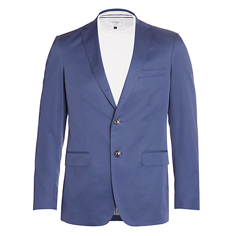 Buy Gant Cotton Twill Blazer, Twill Blue Online at johnlewis.com