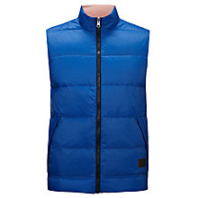 Buy Gant Reversible Down Padded Gilet, Blue Online at johnlewis.com