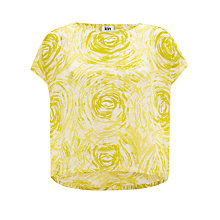 Buy Kin by John Lewis Tornado Print Top, Yellow Online at johnlewis.com