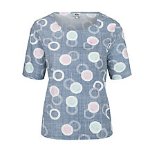 Buy Kin by John Lewis Floating Circles Top, Navy Online at johnlewis.com