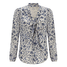 Buy Somerset by Alice Temperley March Meadow Silk Blouse, Blue Online at johnlewis.com