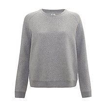 Buy Kin by John Lewis Quilted Sweatshirt, Grey Online at johnlewis.com