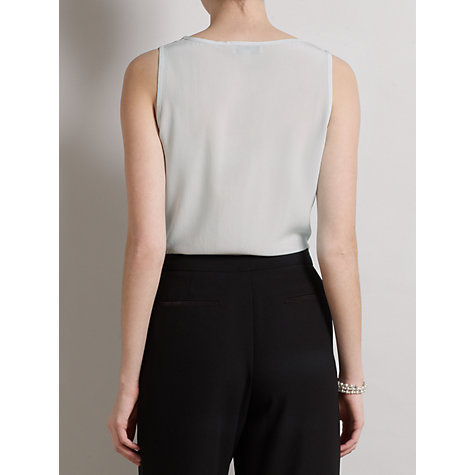 Buy Somerset by Alice Temperley Pintuck Silk Top, Dove Online at johnlewis.com