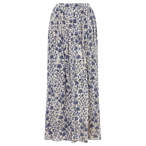 Buy Somerset by Alice Temperley March Meadow Maxi Skirt, Blue Online at johnlewis.com