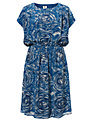 Kin by John Lewis Tornado Print Dress, Blue
