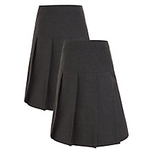 Buy John Lewis Basics Girls' Skirt, Pack of 2, Grey Online at johnlewis.com