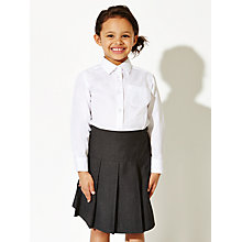 Buy John Lewis The Basics Girls' Skirt, Pack of 2, Grey Online at johnlewis.com
