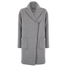 Buy Mint Velvet Zip Cocoon Coat, Grey Online at johnlewis.com