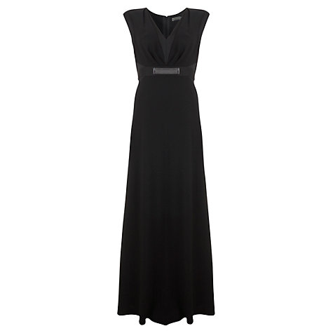 Buy Mint Velvet Metal Plate Maxi Dress, Black Online at johnlewis.com