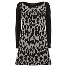 Buy Mint Velvet Animal Knit Dress, Black / Oatmeal Online at johnlewis.com