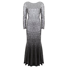 Buy Mint Velvet Ombre Maxi Dress, Metallic Grey Online at johnlewis.com
