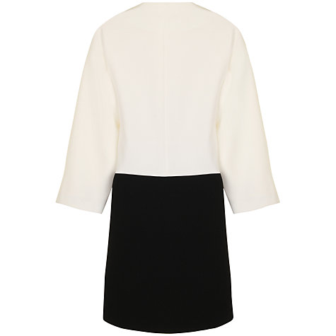 Buy True Decadence Contrast Cocoon Coat, Black/White Online at johnlewis.com