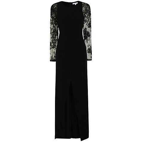 Buy True Decadence Lace Sleeved Maxi Dress, Black Online at johnlewis.com