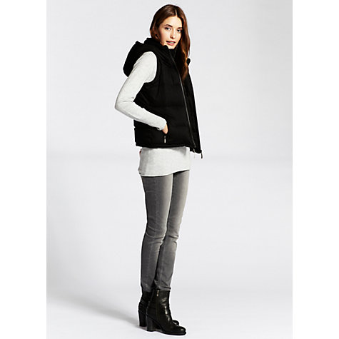 Buy Mint Velvet Padded Gilet, Black Online at johnlewis.com
