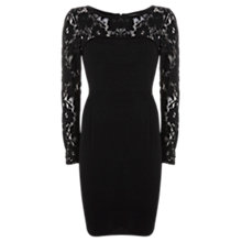 Buy Mint Velvet Wool Lace Dress, Black Online at johnlewis.com