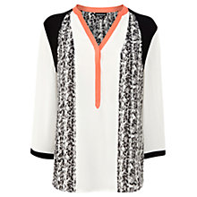Buy Warehouse Animal Panelled Blouse, Multi Online at johnlewis.com