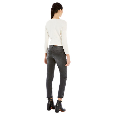 Buy Warehouse Roll Up Jeans, Dark Grey Online at johnlewis.com