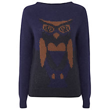 Buy White Stuff Night Owl Jumper, Blue Online at johnlewis.com
