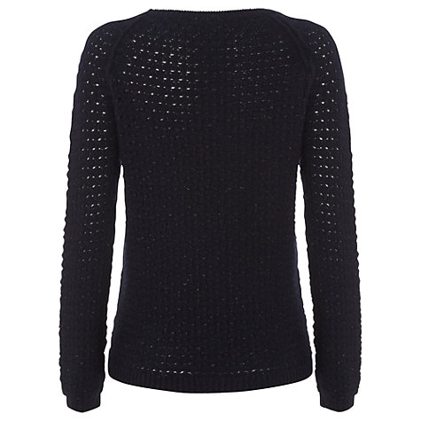 Buy White Stuff Tapestry Holey Knit Jumper, Blue Online at johnlewis.com