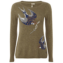 Buy White Stuff Town and Country Jumper, Green Online at johnlewis.com