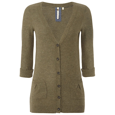 Buy White Stuff Townsville Boyfriend Cardigan, Field Green Online at johnlewis.com