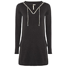 Buy White Stuff Valentina Hoodie Tunic, Charcoal Online at johnlewis.com