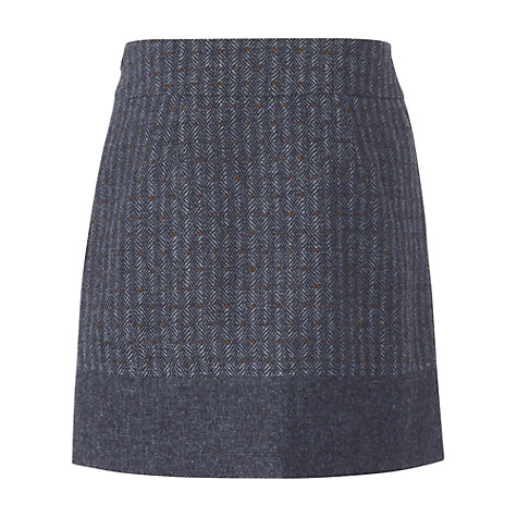 Buy White Stuff Tweed Ascot Skirt, Dark Blueberry Online at johnlewis.com