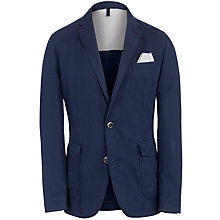 Buy BOSS Medvin Washed Cotton Linen Jacket, Navy Online at johnlewis.com