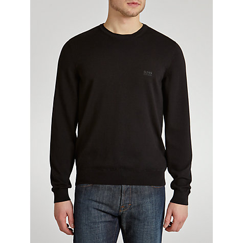 Buy Boss Black Balduin Cotton Crew Neck Jumper Online at johnlewis.com