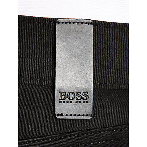 Buy BOSS Maine Trousers, Black Online at johnlewis.com