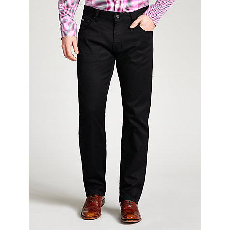 Buy Boss Black Maine 5-Pocket Jeans, Black Online at johnlewis.com