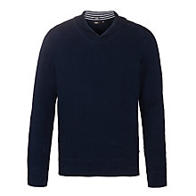 Buy BOSS Pivot Shawl Neck Jumper, Navy Online at johnlewis.com