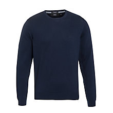 Buy BOSS Balduin Cotton Crew Neck Jumper Online at johnlewis.com
