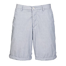 Buy BOSS Clyde Hairline Stripe Shorts, White/Navy Online at johnlewis.com