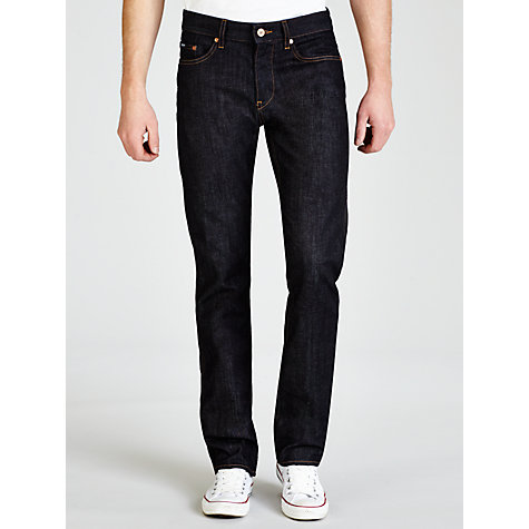 Buy BOSS Delaware Slim Fit Jeans, Navy Online at johnlewis.com