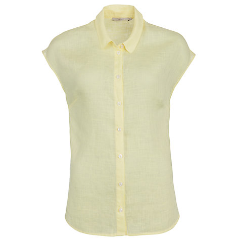 Buy John Lewis Capsule Collection Spot Linen Shirt, Lemon Online at johnlewis.com
