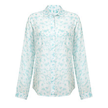 Buy Collection WEEKEND by John Lewis Daisy Print Voile Shirt, Aqua Online at johnlewis.com