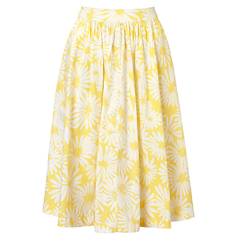 Buy Collection WEEKEND by John Lewis Daisy Print Skirt, Yellow/White Online at johnlewis.com