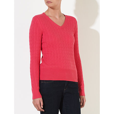 Buy John Lewis Cable V-Neck Jumper Online at johnlewis.com