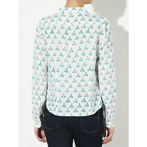 Buy John Lewis Fern Print Shirt, Pool Green/White Online at johnlewis.com