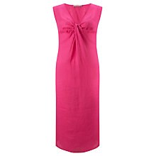 Buy John Lewis Capsule Collection Linen Knot Dress, Pink Online at johnlewis.com