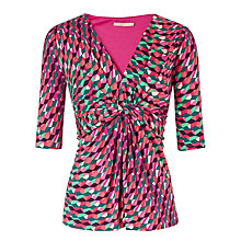Buy John Lewis Capsule Collection Geometric Print Top, Kaleidoscope Print Pink Online at johnlewis.com