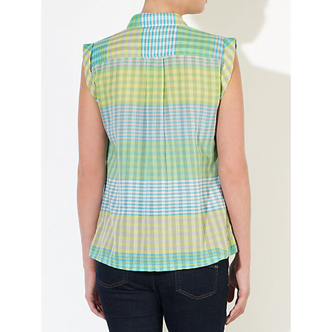 Buy Collection WEEKEND by John Lewis Sleeveless Check Shirt Online at johnlewis.com