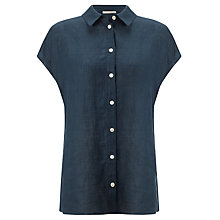 Buy John Lewis Capsule Collection Linen Shirt, Navy Online at johnlewis.com