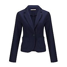 Buy John Lewis Capsule Collection Cotton Texture Jacket, Navy Online at johnlewis.com